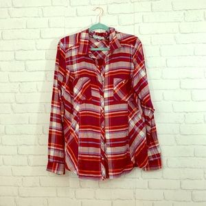 Maurices plaid button up top size XXL!